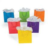 Bolsa de papel de encargo colorida de la alta calidad