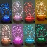 部屋、LEDロマンチックな夜ライトChristmのためのタュチ・コントロール装飾ライトを変更する7つのカラーのための目の錯覚夜ライト(Chirstmas木かサンタクロース)