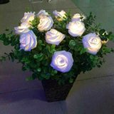 Le temps de vacances allume l'éclairage LED de pendant de Rose de décoration d'arbre de Noël