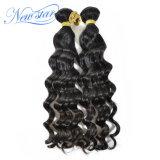 Бесплатная доставка индийского ослабление волнистые Virgin человеческого волоса добавочный номер