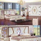أثر قديم غرفة نوم ثبت أثاث لازم مع كلاسيكيّة سرير وخزانة (3390)