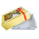 Goldfarben-Drucken-Kirschen, die Kasten mit Belüftung-Fenster verpacken