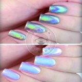 Le sucre coloré miroir laser holographique de poudre de paillettes Pigment Rainbow Chrome