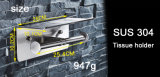Inox Edelstahl-Doppelt-Toiletten-Rollenhalter-Badezimmer-Zubehör-Toilettenpapier-Halter 8821