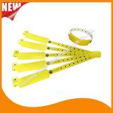 Entretenimiento profesional hecho personalizado Pulsera pulseras de identificación de plástico desechables (E8020-66)