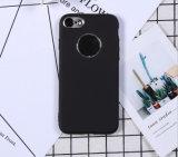 Caixa maçante do telefone do polonês TPU da pintura com pistola do metal para iPhone7