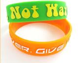 Logotipo Debossed personalizadas pulsera de silicona para regalo de promoción de deportes