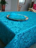 Decoração retangular do Natal do banquete de casamento do restaurante de pano de tabela da tela do teste padrão da tampa de tabela