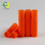Tubo cosmetico del rossetto di colore arancione
