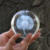 Bola de cristal tallado de grabado láser 3D bola de cristal