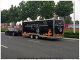 Тележка еды вагонетки кухни доставки с обслуживанием мороженного