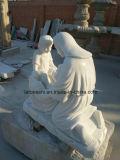 彫刻を切り分ける自然な白人か多彩な大理石の石造りの宗教図