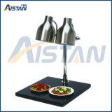 Calentador de lujo del alimento del calientaplatos de la pista del doble de la dimensión de una variable de la lámpara de calle HD-2 con la base de mármol