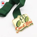 Medaille van het Ras van de Sport van het Email van de V.S. de Gouden Zachte met Lint