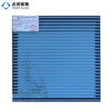 Bleu anti-reflet Low E enduit le verre de construction pour la sécurité