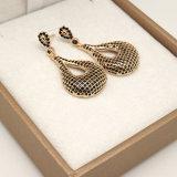 여자를 위한 까만 지르콘 귀걸이 18K 금 다이아몬드 장식 못 귀걸이