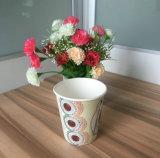 Grueso doble pared tazas de café desechables de uso alimentario con tapa titular de la paja