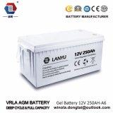 12V 250ahAGM de Zure Batterij van het Lood van de Verbinding voor van het Systeem van het Net