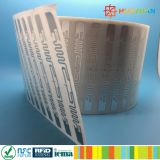 Tag de papel inalteráveis da freqüência ultraelevada H3 RFID para a produção em massa