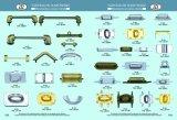 Kundenspezifisches Zink-Legierungs-Metallpassende Beutel-Befestigungsteile