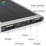 DC5V Salida dos puertos USB 10000mAh Cargador Solar Power Bank