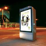 Publicidad de muestras del movimiento en sentido vertical, visualización