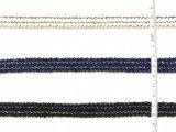 Modekleding, polyester en zilverkleurige zijdeband, gevlochten band, geschikt voor kledingaccessoires