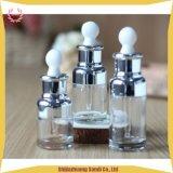 Bottiglia di goccia di vetro dell'olio essenziale della bottiglia del contagoccia della spalla della radura piana del contagoccia
