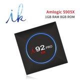 I92 PROAndroid IPTV Fernsehapparat-Kasten mit Amlogic S905X Blitz-Support 4K, WiFi, intelligenter Fernsehapparat-Kasten CPU-1GB RAM/8GB