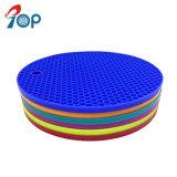 活気に満ちたカラー耐熱性シリコーンのマットのシリコーンの熱い鍋のパッド