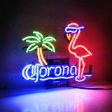 La cerveza Corona, signo de la luz de neón Pink Flamingo cristal auténtico Handmade Bar Club Poster