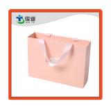 Elegante Rosa duradero regalo compras la bolsa de papel de impresión personalizada