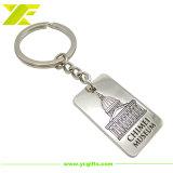 Поощрение индивидуального металлического кольца для ключей с серебристый цвет логотипа (KC02-B)