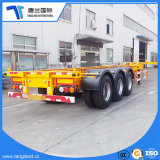 Tri-Axle 40FT esqueleto do Recipiente do chassi semi reboque com bloqueio de torção