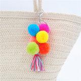 Bohemian coloré POM POM Tassel trousseau pour la décoration de sac