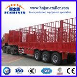 家畜40/50トンはABSブレーキシステムのエクスポートのためのトレーラーを半杭で囲う