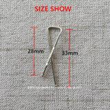 La forma X 3 estilos camisa de acero inoxidable Abrazaderas de embalaje