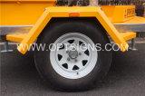 Optrafficの油圧トレーラーはLEDスクリーン表示、LEDの駐車表示、適用範囲が広いLED表示を取付けた