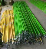 Medição Ros de Polesand do funcionamento da fibra de vidro da vara do gancho