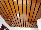 Techo colgado al techo del tubo del perfil del cuadrado del bafle de madera de aluminio del techo