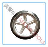 Hohes Nutzlastfestes Gummimaschinerie Rad mit Roheisen-Felge