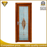 Haute qualité en bois couleur aluminium avec double porte en verre trempé