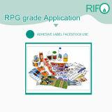 Les étiquettes autocollants imperméable synthétique matériau blanc BOPP avec FS RoHS