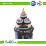 Изготовление 0.6/1 XLPE PVC Kv кабеля электропитания