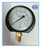 Diamètre de la jauge de pression en acier noir 4 po avec bride arrière