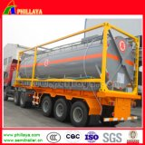 3 assen 4055cbm de Semi Aanhangwagen van de Tank van de Bijtende Soda met Tanker