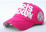 Продукция OEM подгоняла вышитую логосом выдвиженческую бейсбольную кепку спортов хлопка