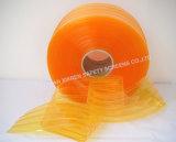 Het gele Geribbelde Plastic Gordijn van de Strook