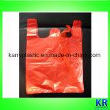 Sacchetto di elemento portante di plastica dell'HDPE del sacco dei rifiuti con la maniglia