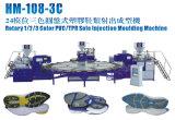 Máquina de fatura de Inj da sapata giratória de PVC/TPR única (1/2/3Color)